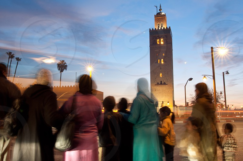 mosque middle east morrocco africa photo