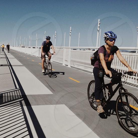Bay Bridge Bike and Pedestrian crossing.  Oakland California photo