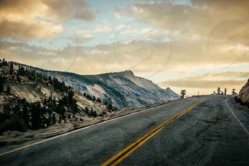 Road near Yosemite NP photo