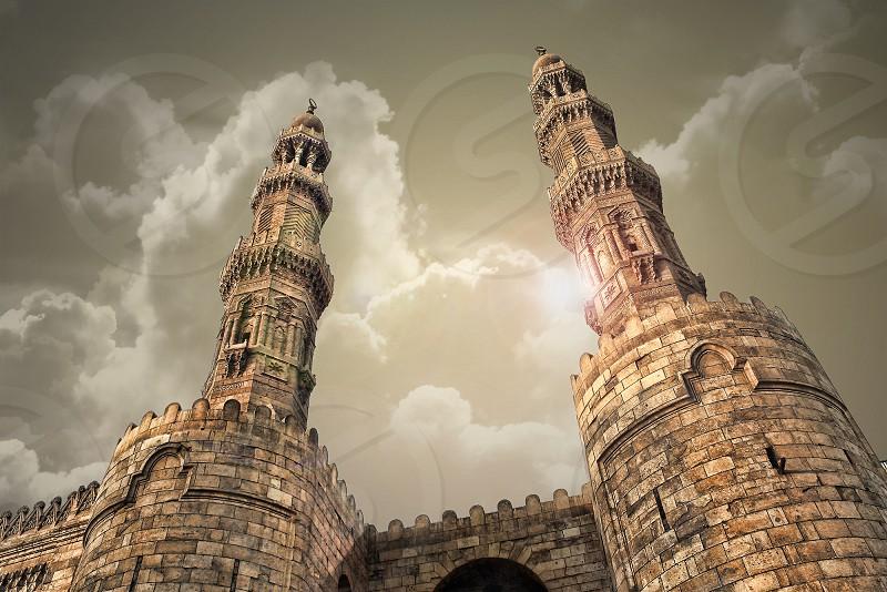Moayyed Sheikh mosque minarets (Zewaila gate)   photo