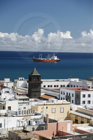 the view from the cathedral in the city Las Palmas on the Canary Island of Spain in the Atlantic ocean. photo