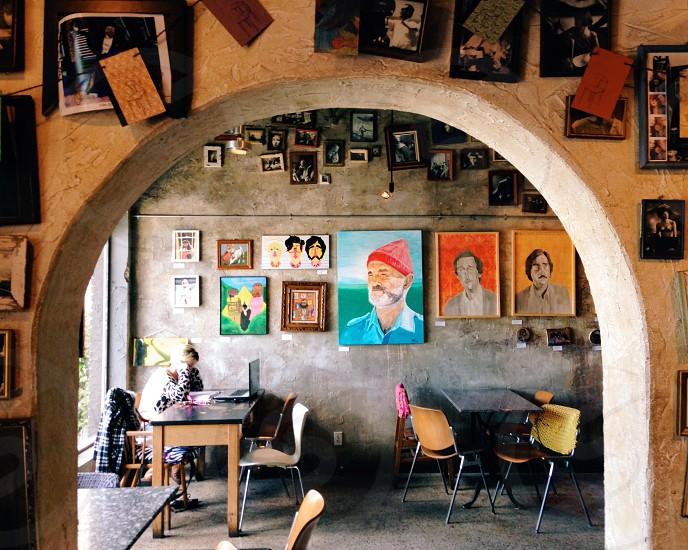 room full of paintings photo