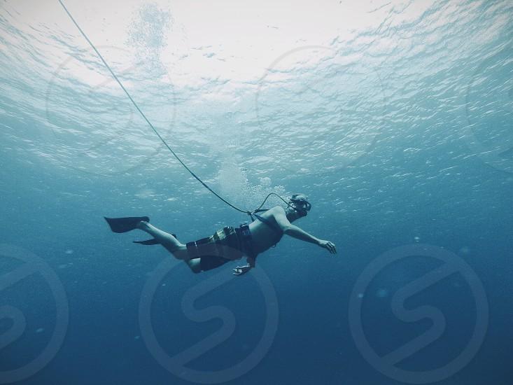 man diving photo