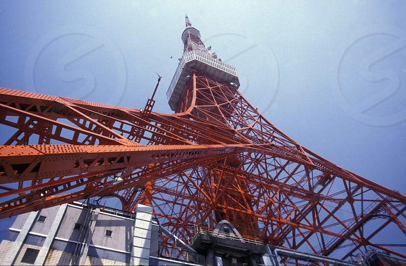 the tokyo tower in the City centre of Tokyo in Japan in Asia photo