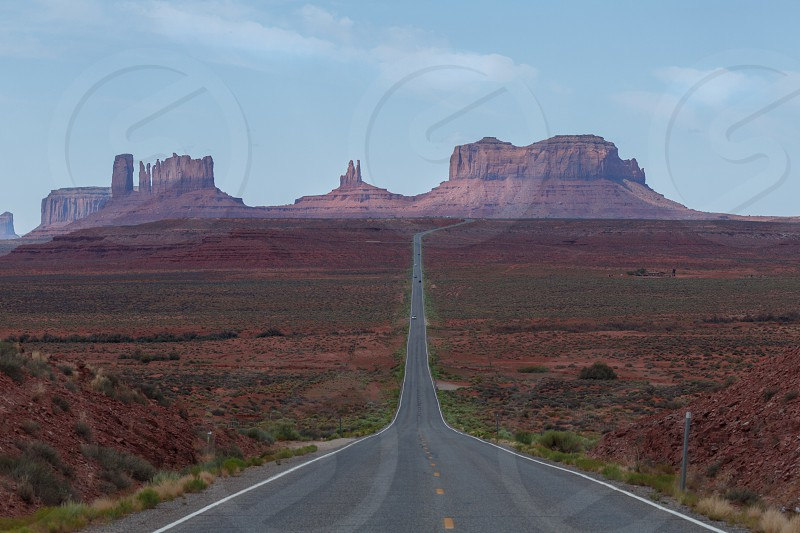 Highway into Monument Valley Tribal Park in northern Arizona photo