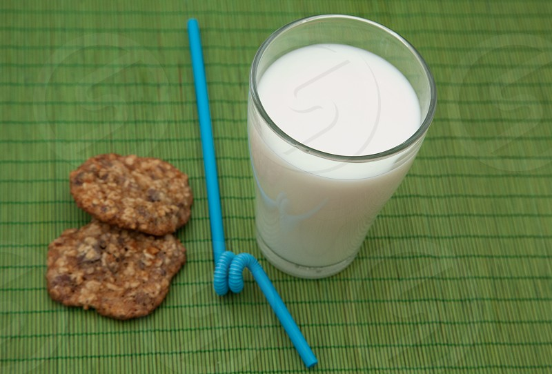 milk on drinking cup photo