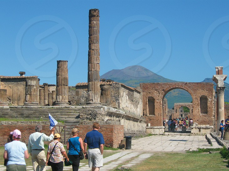 Touring the ruins at Pompeii photo