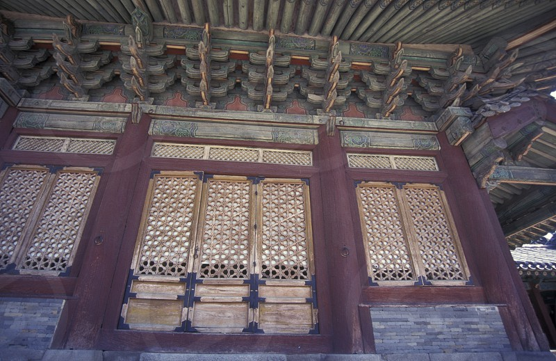 the Gyeongbokgung or Kyongbokkung Palace in the city of Seoul in South Korea in EastAasia.  Southkorea Seoul May 2006 photo