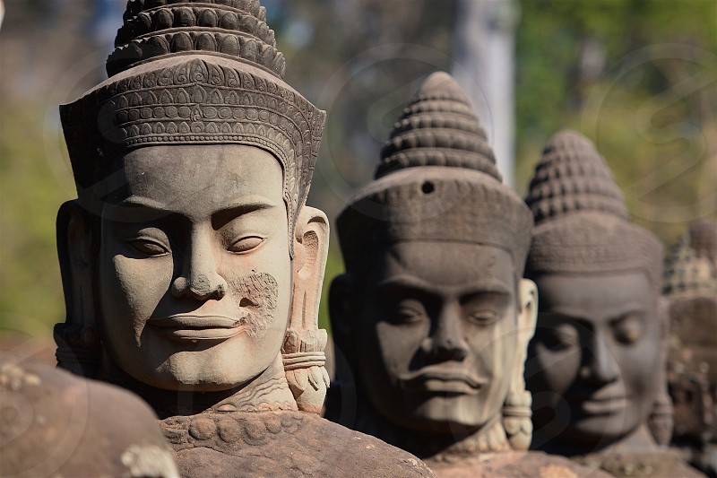 Statues in Cambodia photo