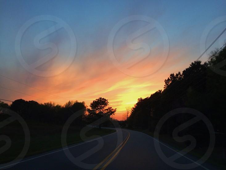 Backroad sunset photo