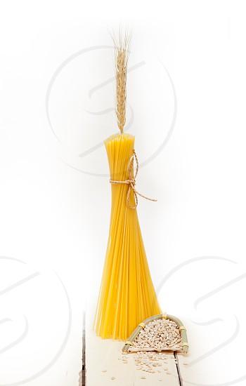 organic Raw italian pasta and durum wheat grains crop photo