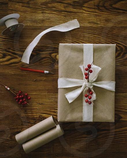 white box with bow photo