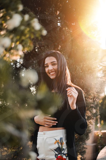 Girl sun sunlight portrait photo
