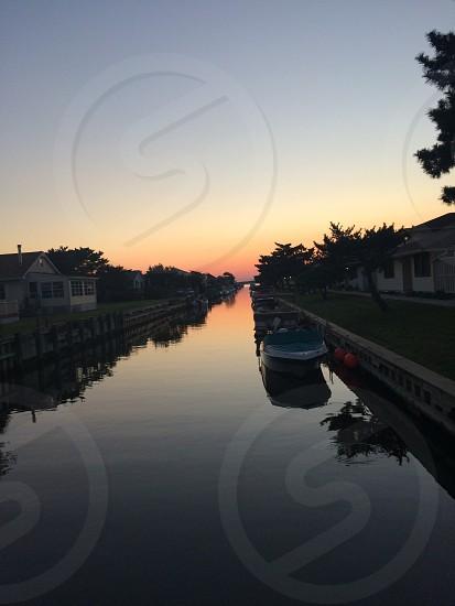 Ocean bay beauty sunset beautiful sky photo