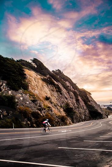 Biker Sam Francisco California Exploration Fitness Lifestyle photo