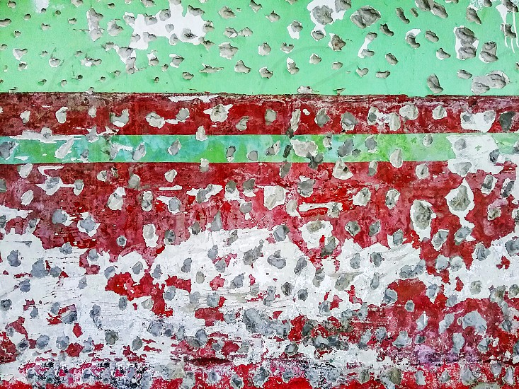 grunge damaged concrete wall abstract grungy red green white patterns old background nobody horizontal photo
