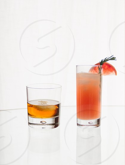 Cocktail and whiskey  photo
