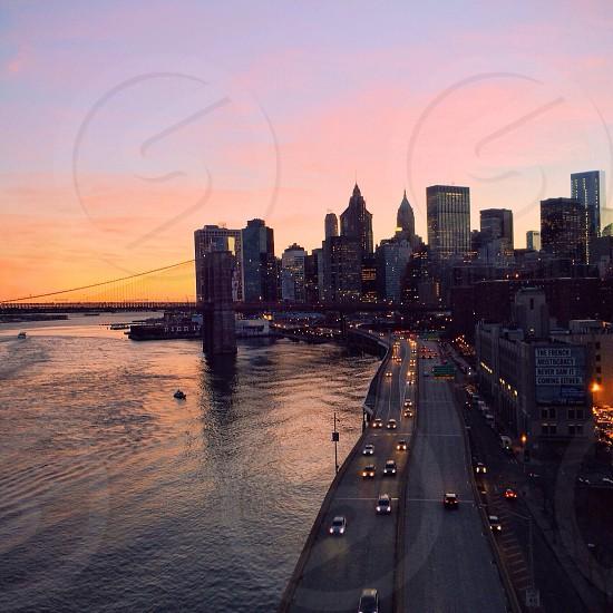 Downtown Manhattan & Brooklyn Bridge as seen from the Manhattan Bridge photo