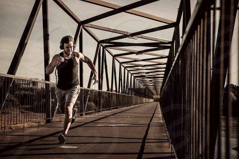 man running fitness urban photo