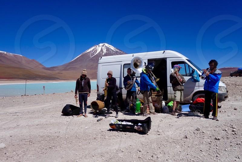 5000 ft high Lagoon Bolivia Band photo