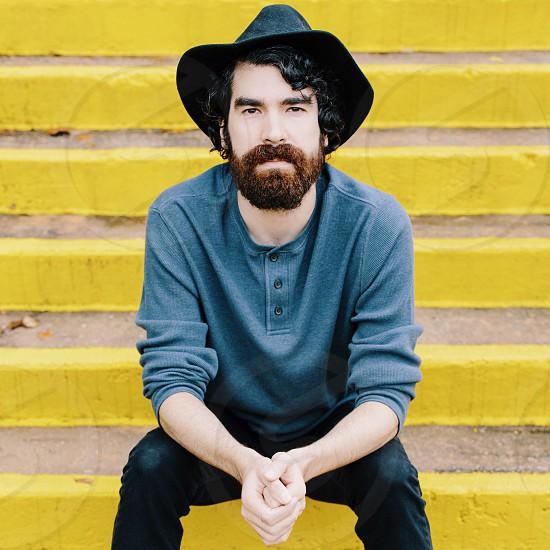 Man yellow beard mustache musician lifestyle photo
