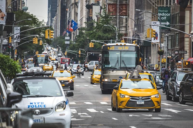 Ride share Yellow cab photo