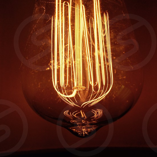 Filament bulb lightbulb vintage industrial home lighting photo