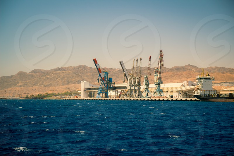 Port of Eilat Israel.
