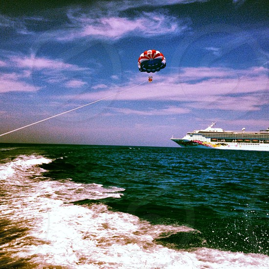 Parasailing Bahamas Ocean Cruise photo