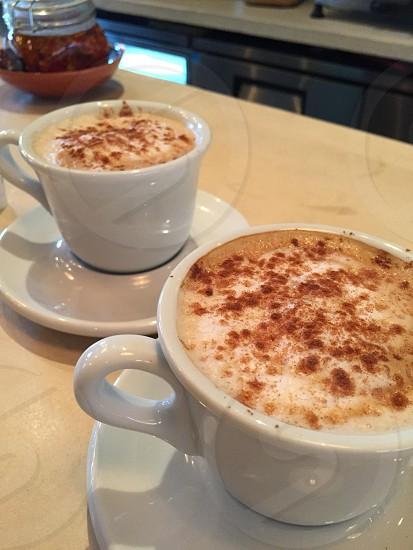 Cinnamon cappuccinos  photo