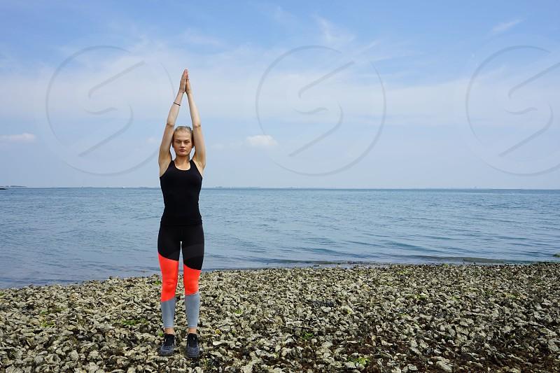 young woman  yoga photo