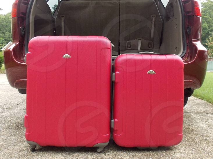 red luggage photo