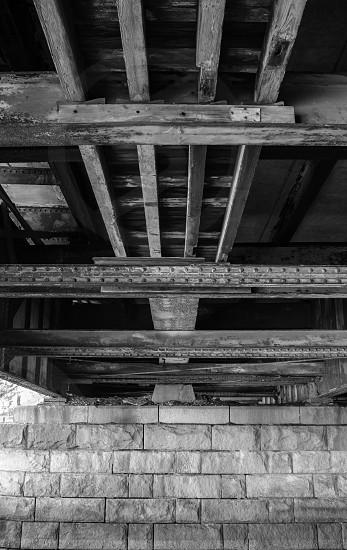 bridge boston black and white symmetry photo