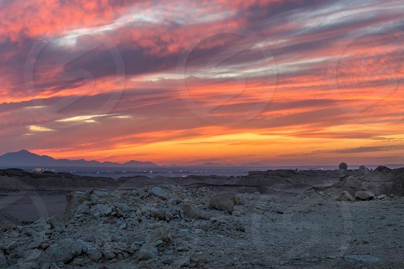 Sunset Over HURGHADA photo