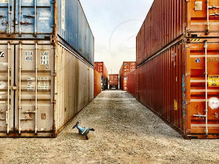 Tricycle shipping containers  photo