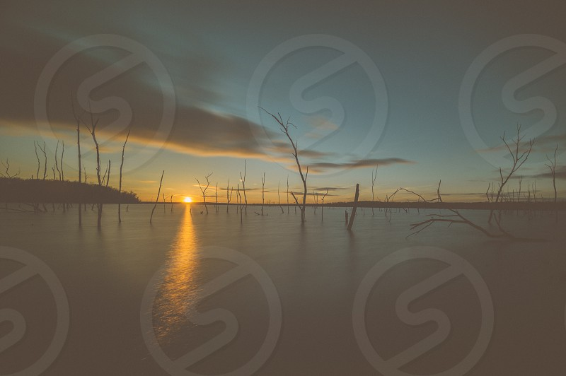 sunset and sea photo