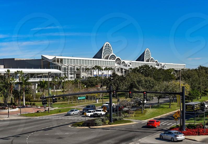 Orlando Florida. January 12 2019 Panoramic view of Orlando Convention Center at International Drive area (1) photo