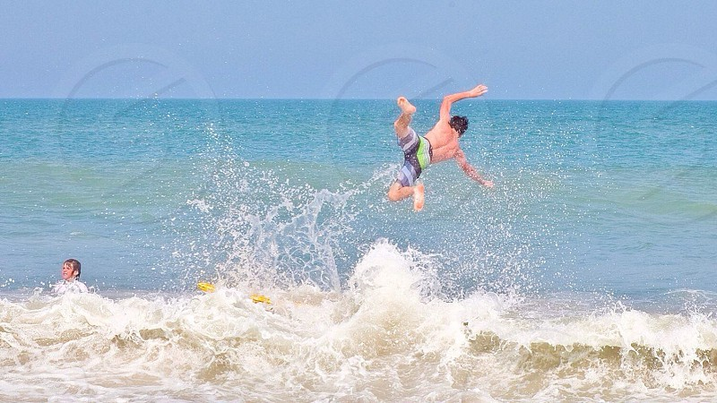 Body surfing and flung through the air  photo