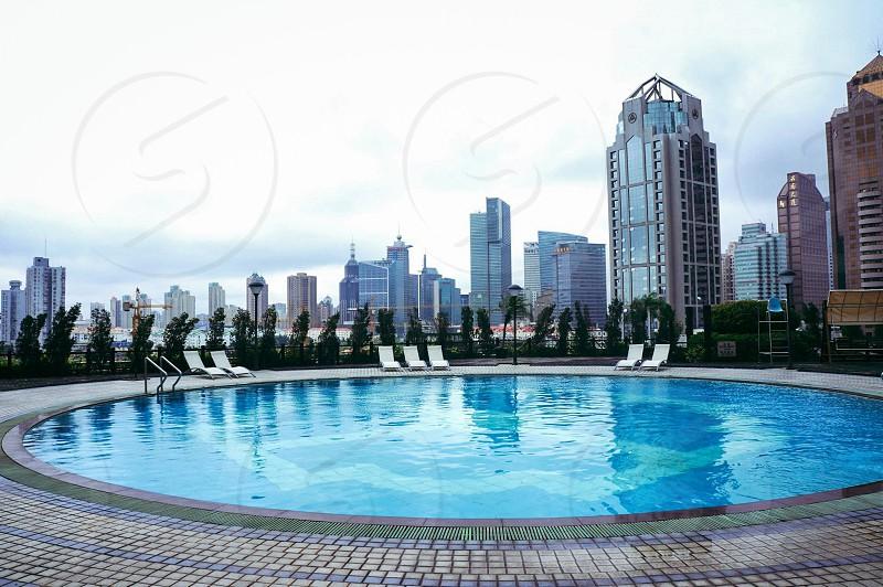 Swimming in Shanghai photo