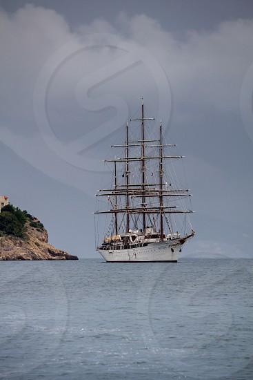 Tall ships Croatia port boat water mast Europe Dubrovnik photo