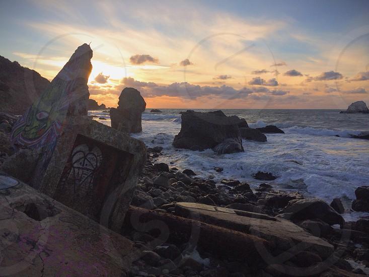 Mile Rock beach photo