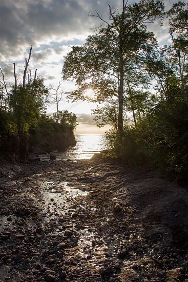 Lake superior Sunrise Summer  photo