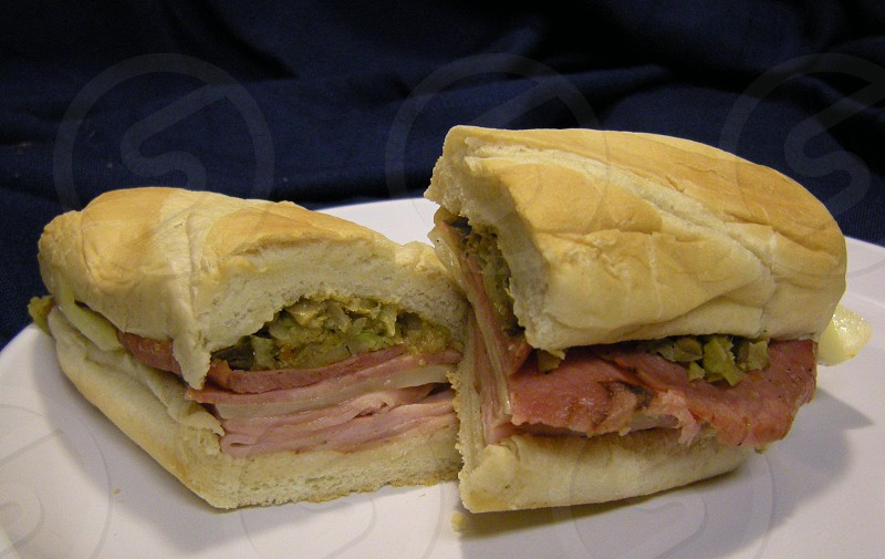 Muffelatta sandwich on French bread photo