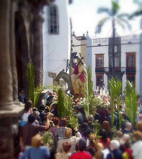 Palm Sunday street procession Las Palmas photo