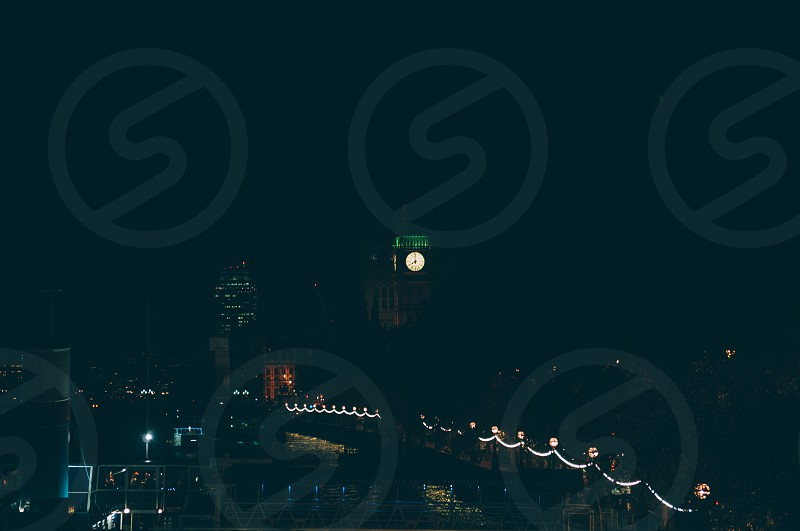 london at night photo