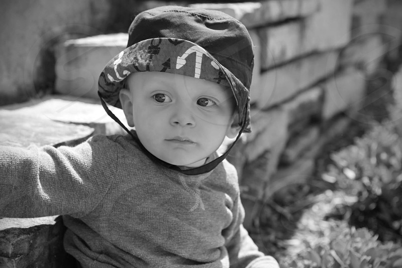 black and white photo of baby photo