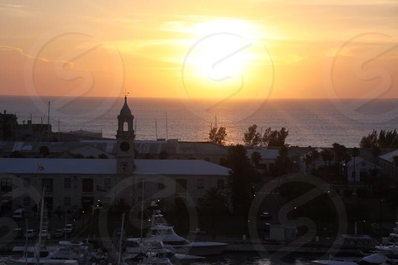 Sunset at The Dockyard in Bermuda photo