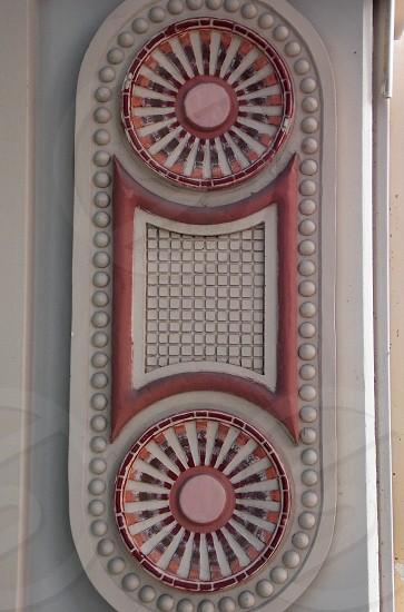circles with white rays photo