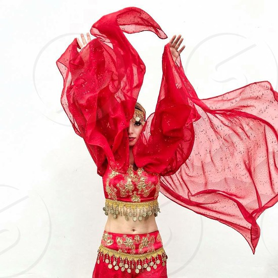 Girl in Arabic clothes photo