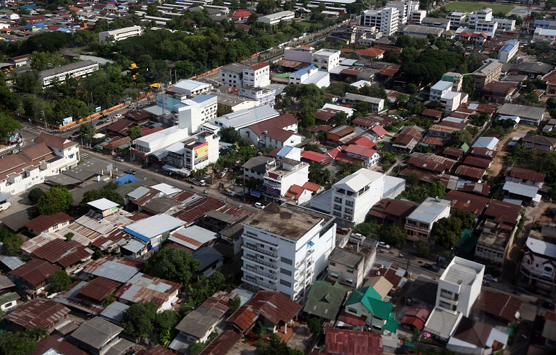 the city of ubon ratchathani in the Region of Isan in Northeast Thailand in Thailand. photo